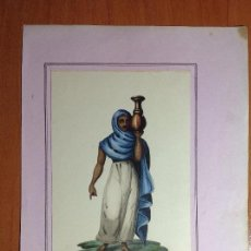 Arte: ANÓNIMO. ESCUELA FRANCESA SIGLO XIX. MUJER DE EGIPTO.. Lote 132333810