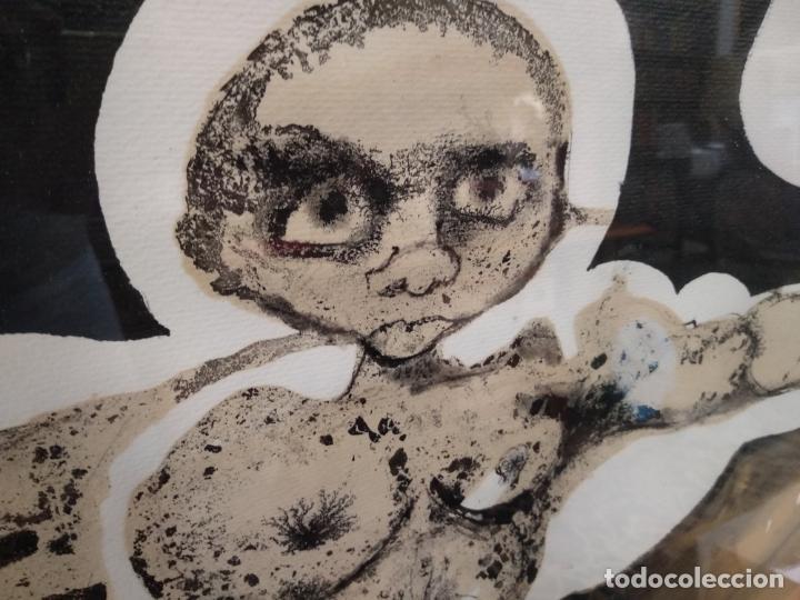 Arte: LLAMATIVA ACUARELA FIRMADA - PERSONAJE DESNUDO CON BRAZOS EN CRUZ - ALABARRIETA 73 - - Foto 2 - 132595638