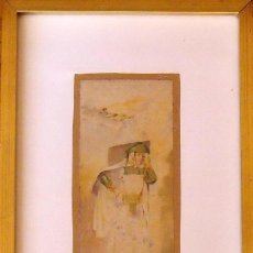 Arte: LOUIS LARTIGAU (FRANCIA 1800-1900). DIBUJO ACUARELA: JOVEN ALGERIANO. ALGER. 1899. FIRMADO A MANO.. Lote 132891506