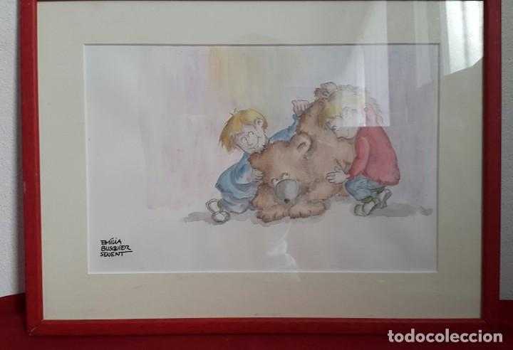 ACUARELA INFANTIL DE EMILIA BUSQUIER SENENT (Arte - Acuarelas - Contemporáneas siglo XX)