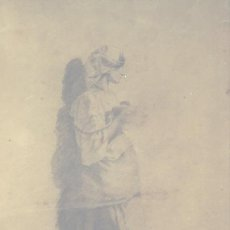 Arte: REF BN006 NICOLAS MASSIEU Y MATOS MUJER VESTIDA TRADICIONAL ITALIANA. Lote 133066826
