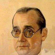 Arte: PINTURA DE JULIO QUESADA EN 1943 - RETRATO DE COMPAÑERO. Lote 133139622