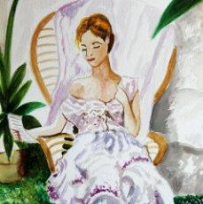 Arte: LEYENDO EN EL JARDIN OBRA DE GILABERTE. Lote 133378218