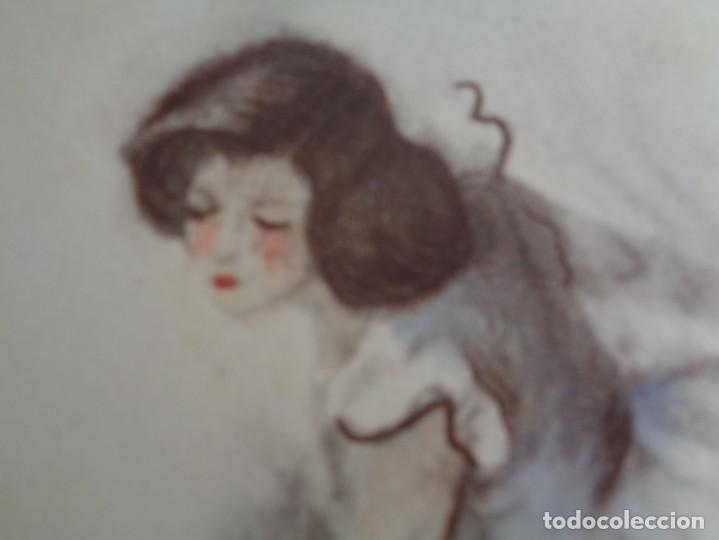 Arte: Bailarina llorando con heridas --- Firmado Gisbert Soler -- Fechado 1945 - Foto 4 - 133392322