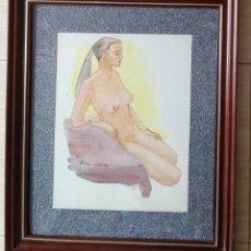 Arte: JOSEP VILA CLOSES - ACUARELA ENMARCADA CRISTAL 61 X 51. Lote 133452938