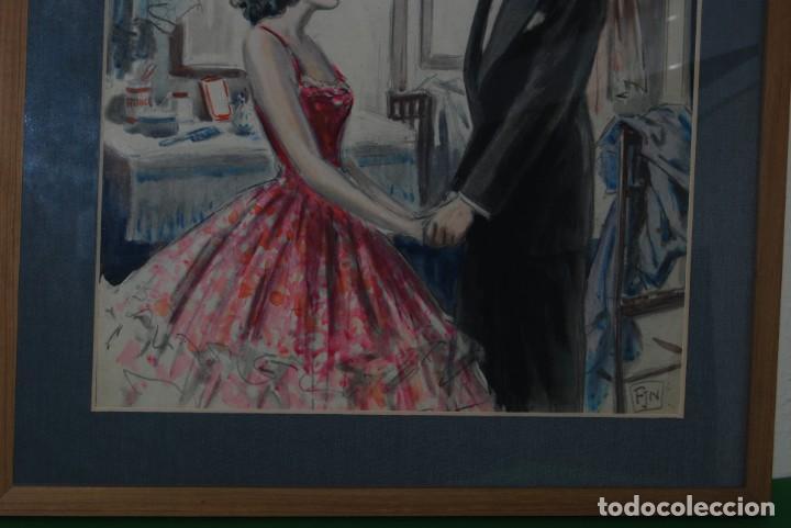 Arte: PRECIOSA ACUARELA DEL ILUSTRADOR F. J. NIXON - AÑOS 30-40 - Foto 3 - 133589990