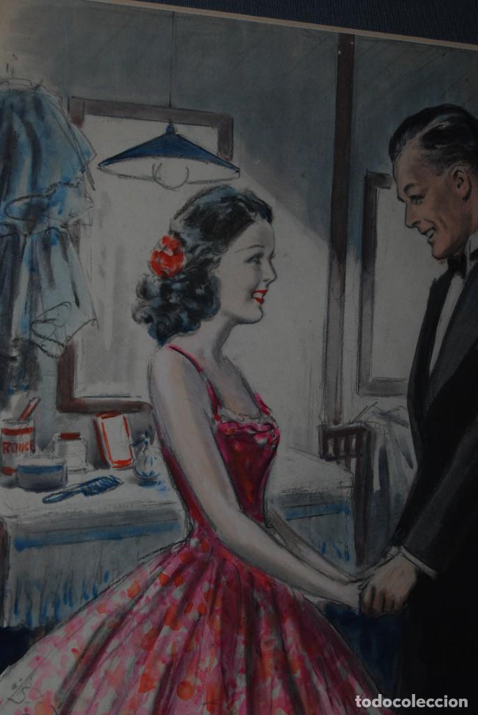 Arte: PRECIOSA ACUARELA DEL ILUSTRADOR F. J. NIXON - AÑOS 30-40 - Foto 4 - 133589990