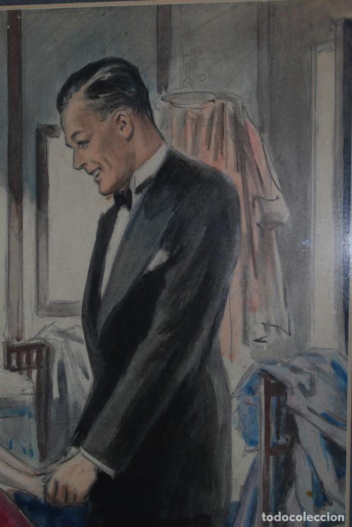 Arte: PRECIOSA ACUARELA DEL ILUSTRADOR F. J. NIXON - AÑOS 30-40 - Foto 6 - 133589990