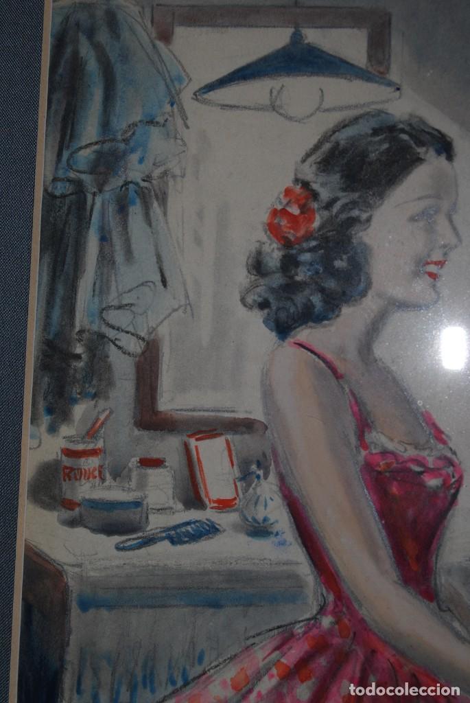 Arte: PRECIOSA ACUARELA DEL ILUSTRADOR F. J. NIXON - AÑOS 30-40 - Foto 11 - 133589990