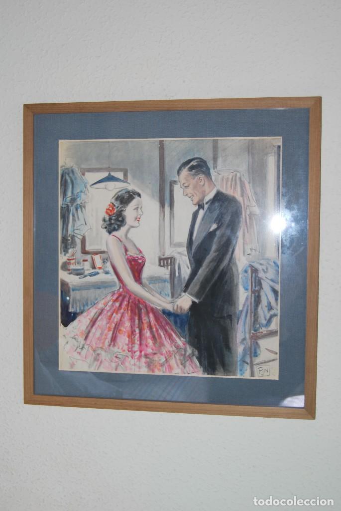 Arte: PRECIOSA ACUARELA DEL ILUSTRADOR F. J. NIXON - AÑOS 30-40 - Foto 15 - 133589990