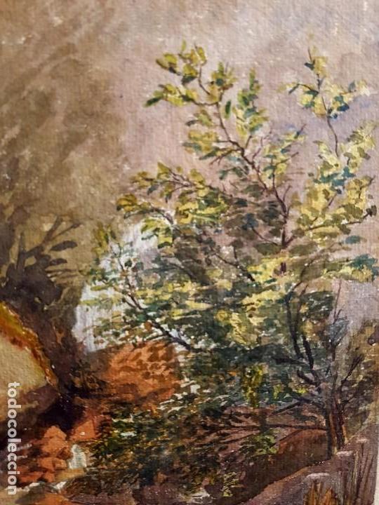 Arte: Clementina SMYTH, S.XIX - `Paisaje de montaña con rio - Foto 3 - 133815450