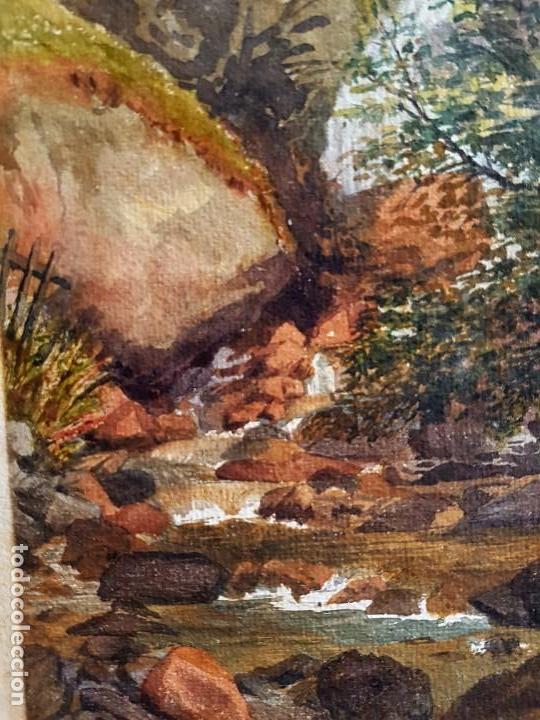 Arte: Clementina SMYTH, S.XIX - `Paisaje de montaña con rio - Foto 4 - 133815450