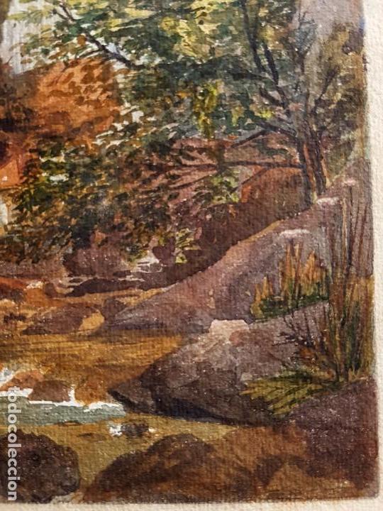 Arte: Clementina SMYTH, S.XIX - `Paisaje de montaña con rio - Foto 5 - 133815450
