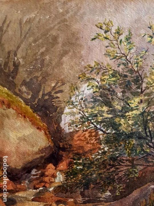 Arte: Clementina SMYTH, S.XIX - `Paisaje de montaña con rio - Foto 7 - 133815450