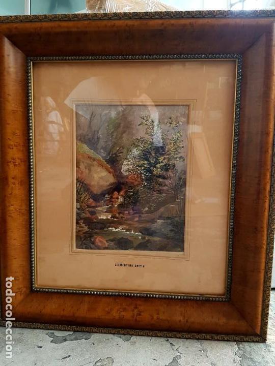 Arte: Clementina SMYTH, S.XIX - `Paisaje de montaña con rio - Foto 2 - 133815450