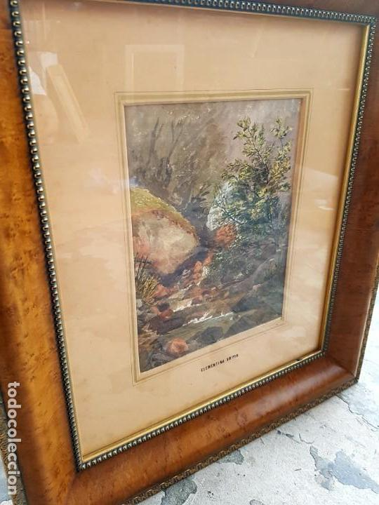 Arte: Clementina SMYTH, S.XIX - `Paisaje de montaña con rio - Foto 8 - 133815450