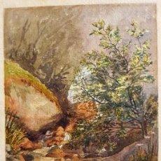 Arte: CLEMENTINA SMYTH, S.XIX - `PAISAJE DE MONTAÑA CON RIO. Lote 133815450