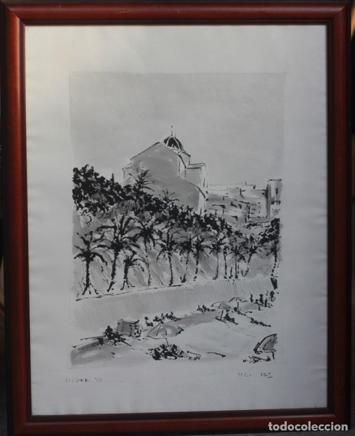 JOSE MAYOR, ALICANTE, ACUARELA SOBRE PAPEL, ENMARCADA. 56X71CM (Arte - Acuarelas - Contemporáneas siglo XX)