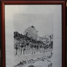 Arte: JOSE MAYOR, ALICANTE, ACUARELA SOBRE PAPEL, ENMARCADA. 56X71CM. Lote 134641258