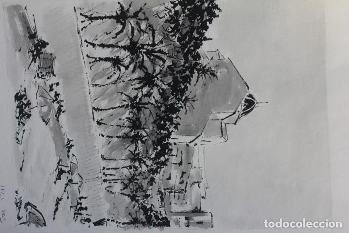 Arte: JOSE MAYOR, ALICANTE, ACUARELA SOBRE PAPEL, ENMARCADA. 56X71cm - Foto 2 - 134641258