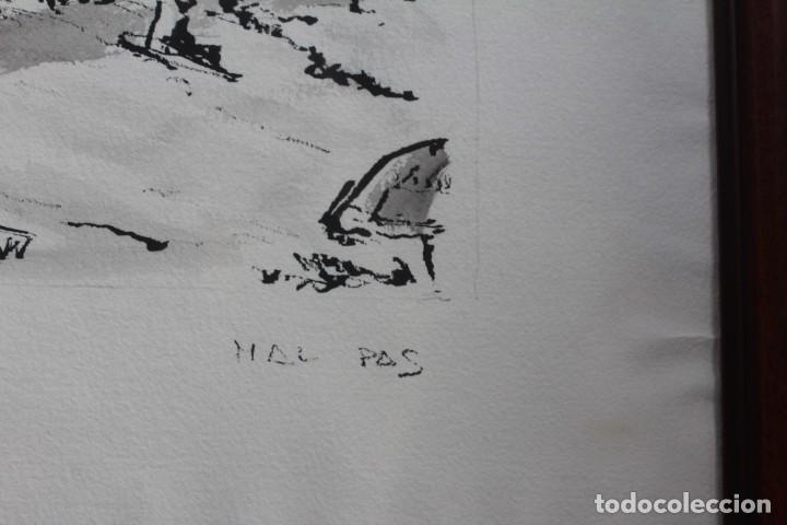 Arte: JOSE MAYOR, ALICANTE, ACUARELA SOBRE PAPEL, ENMARCADA. 56X71cm - Foto 5 - 134641258