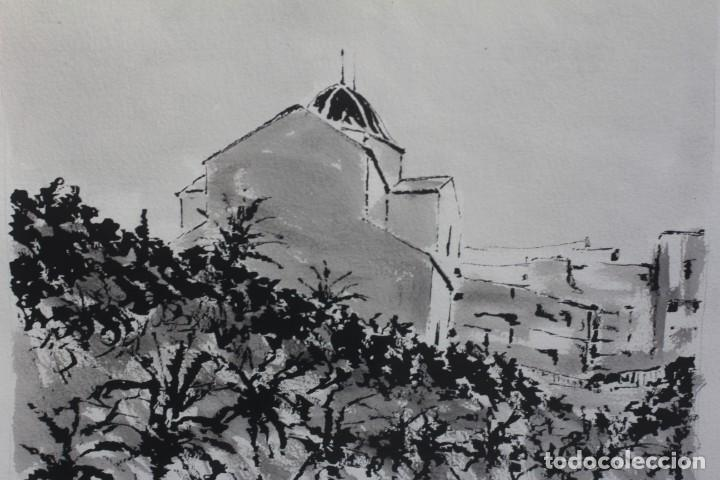 Arte: JOSE MAYOR, ALICANTE, ACUARELA SOBRE PAPEL, ENMARCADA. 56X71cm - Foto 6 - 134641258