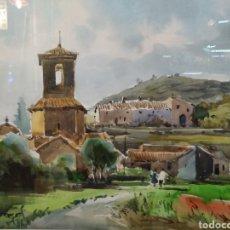 Arte: ACUARELA DE PINTOR F. BRUGUERAS. Lote 135044531