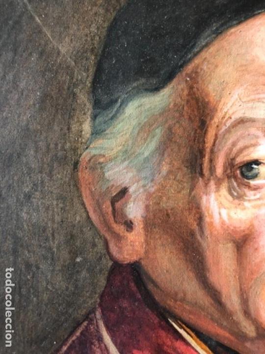 Arte: PINTURA GOUACHE RETRATO MONSEÑOR, CARDENAL, OBISPO, FIRMADO NATALE SCHIAVON F. SIGLO XVIII - Foto 6 - 135243022