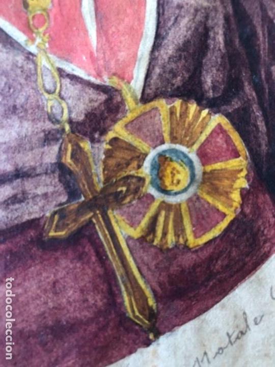 Arte: PINTURA GOUACHE RETRATO MONSEÑOR, CARDENAL, OBISPO, FIRMADO NATALE SCHIAVON F. SIGLO XVIII - Foto 9 - 135243022