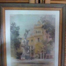 Arte: ACUARELA ENMARCADA. GRAN TAMAÑO. FIRMADA POR GERARD MOORTGAT. ALICANTE. 78 X 62 CM. Lote 135774562