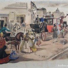 Arte: JOSÉ LUIS FLORIT RODERO (1909-2000) - ESCENA COSTUMBRISTA - ACUARELA. Lote 135826130