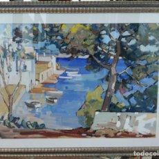 Arte: RAMÓN BARNADAS FABREGAS (OLOT 1909-VIC 1981) GOUACHE SOBRE PAPEL MEDIDAS 65X45 CMS. Lote 135927898