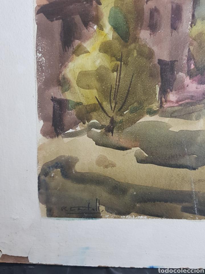 Arte: Ramon Castells i Soley paisaje de pueblo - Foto 2 - 136000173