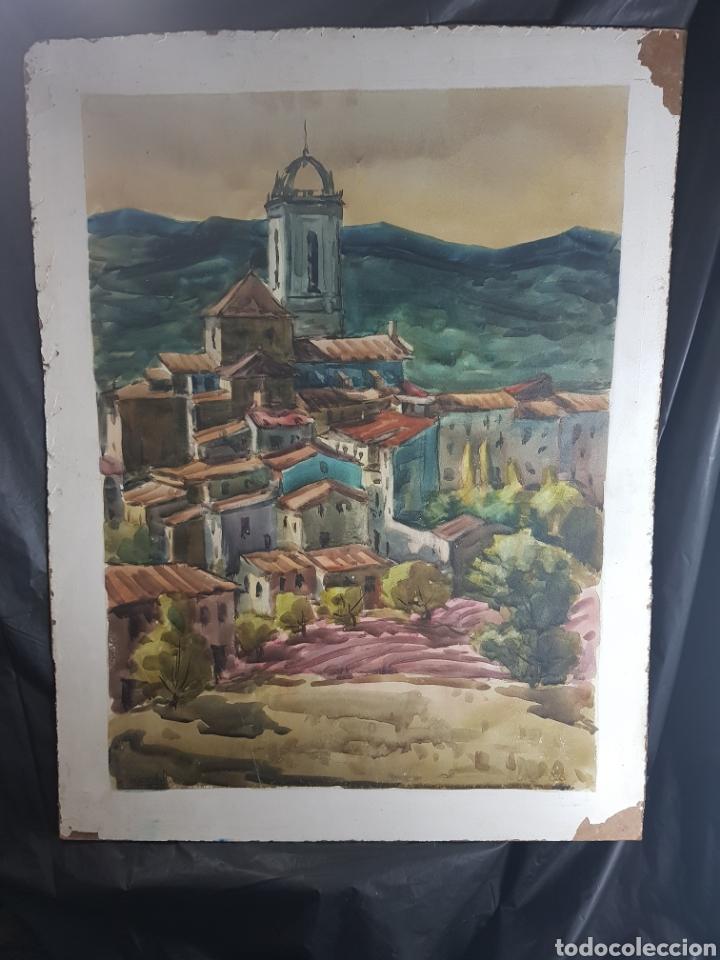 Arte: Ramon Castells i Soley paisaje de pueblo - Foto 3 - 136000173