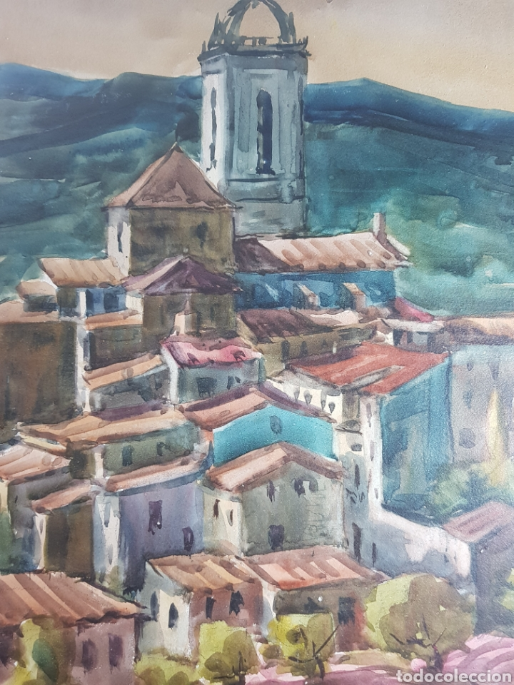 Arte: Ramon Castells i Soley paisaje de pueblo - Foto 4 - 136000173