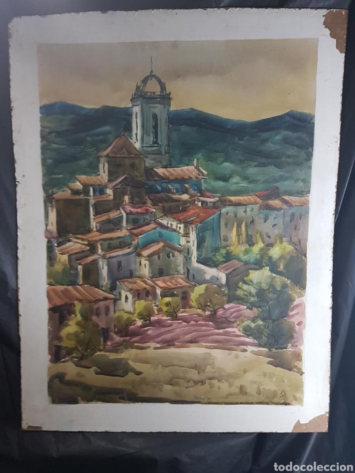 Arte: Ramon Castells i Soley paisaje de pueblo - Foto 5 - 136000173