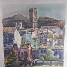 Arte: PAISAJE DE CADAQUES POR RAMON CASTELLS Y SOLEY. Lote 136000376