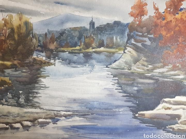 Arte: Ramon Castells i Soley paisaje de rio - Foto 2 - 136004042