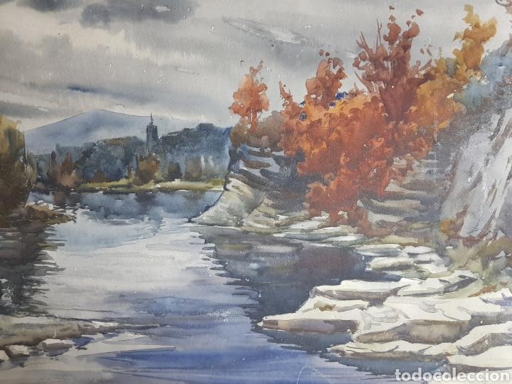 Arte: Ramon Castells i Soley paisaje de rio - Foto 3 - 136004042