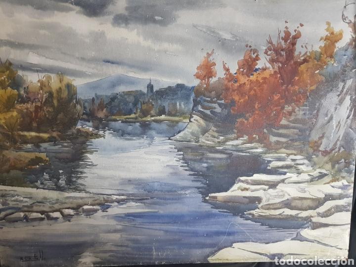 Arte: Ramon Castells i Soley paisaje de rio - Foto 5 - 136004042