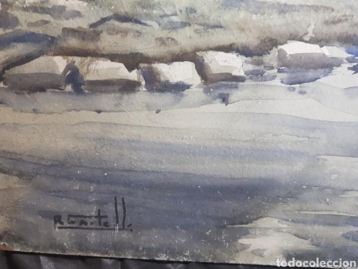Arte: Ramon Castells i Soley paisaje de rio - Foto 6 - 136004042