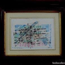 Arte: ACUARELA Y TINTA SOBRE PAPEL, CONSTRUCTIVISTA. Lote 136378966