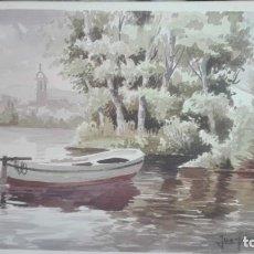 Arte: ACUARELA DE JUAN PARDO FORTEZA. Lote 136435194