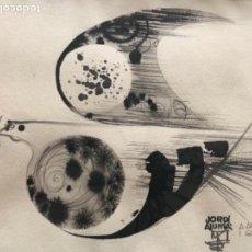 Arte: ACUARELA ABSTRACCIÓN PALOMA PAZ FIRMADA JORDI ALUMÀ 1970, 32X26 CM. Lote 136596442