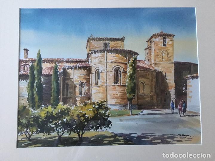 IGLESIA DE SAN PEDRO DE AVILA DE FAUSTINO BLANCO VEGA (Arte - Acuarelas - Contemporáneas siglo XX)