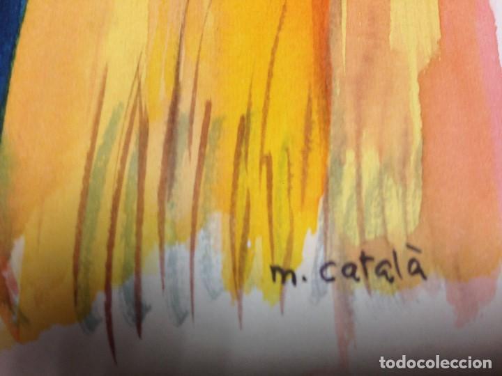 Arte: Catalá, Mireia, 1972, firmado y catalogado.aprox 50x40 cms - Foto 2 - 136816826