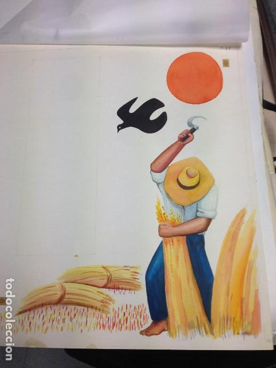 Arte: Catalá, Mireia, 1972, firmado y catalogado.aprox 50x40 cms - Foto 3 - 136816826