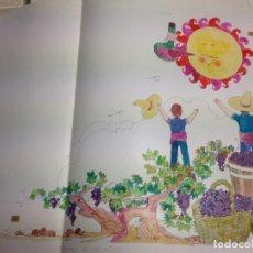 Arte: DIBUJO ORIGINAL DE BOADA PARA ILUSTRAR LA ENCICLOPEDIA INFANTIL, DE 10 TOMOS DE EDITORIAL CARROGGIO. Lote 136817702