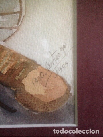 Arte: Cuadro acuarela firmada y datada - Foto 2 - 136825316
