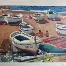 Arte: PLAYA MARINERA POR FREDERIC LLOVERAS HERRERA. Lote 137208342